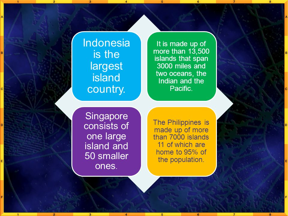 Indonesia is the largest island country.