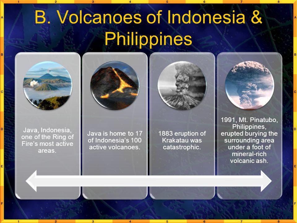 B. Volcanoes of Indonesia & Philippines