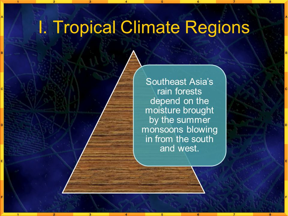 I. Tropical Climate Regions
