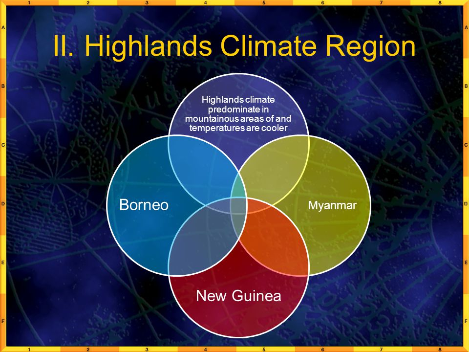 II. Highlands Climate Region
