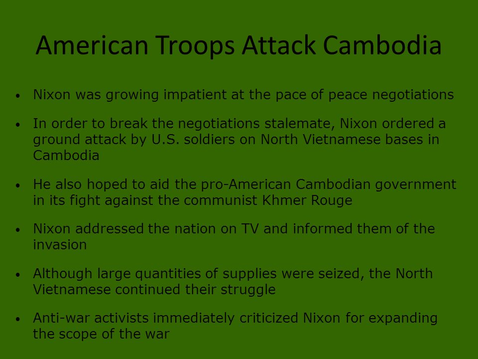 American Troops Attack Cambodia