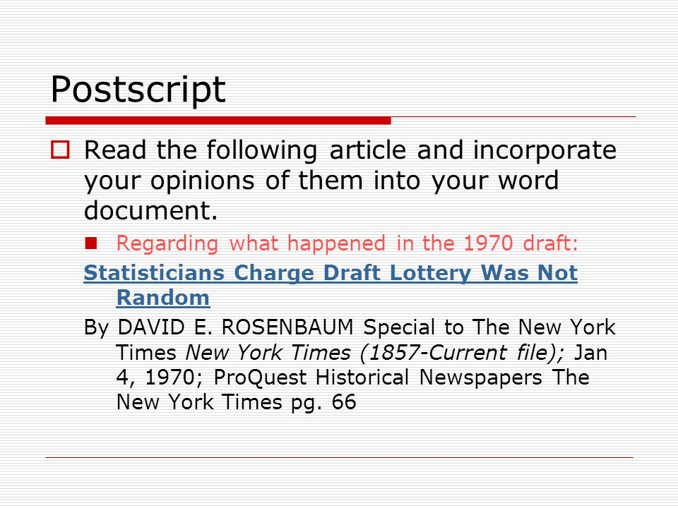 Postscript Read the following article and incorporate your opinions of them into your word document.