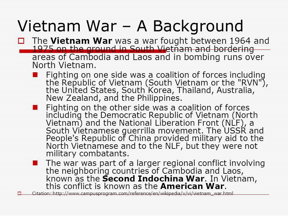 Vietnam War – A Background