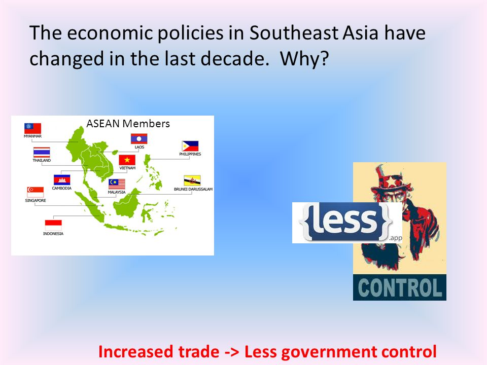 The economic policies in Southeast Asia have changed in the last decade. Why