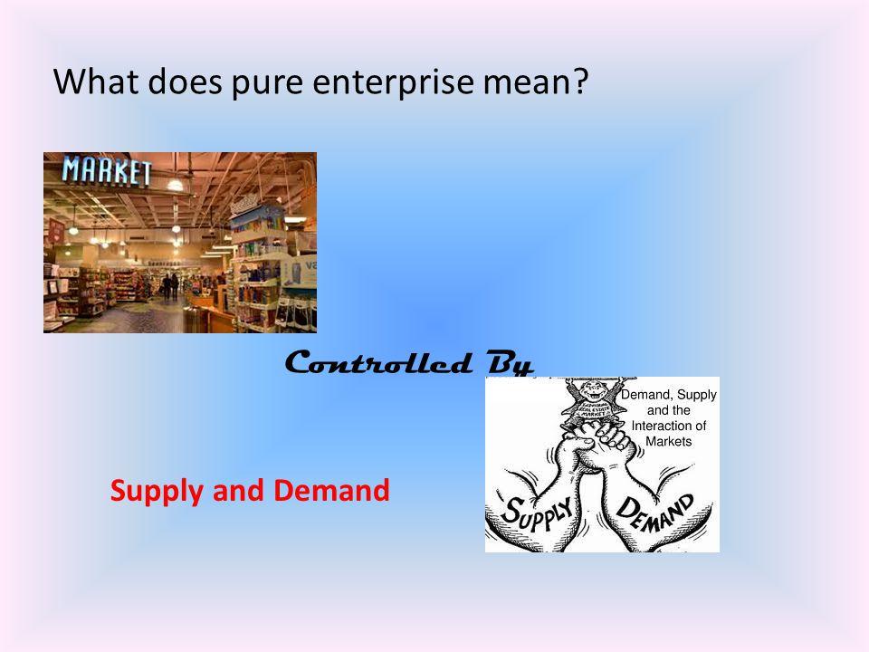 What does pure enterprise mean