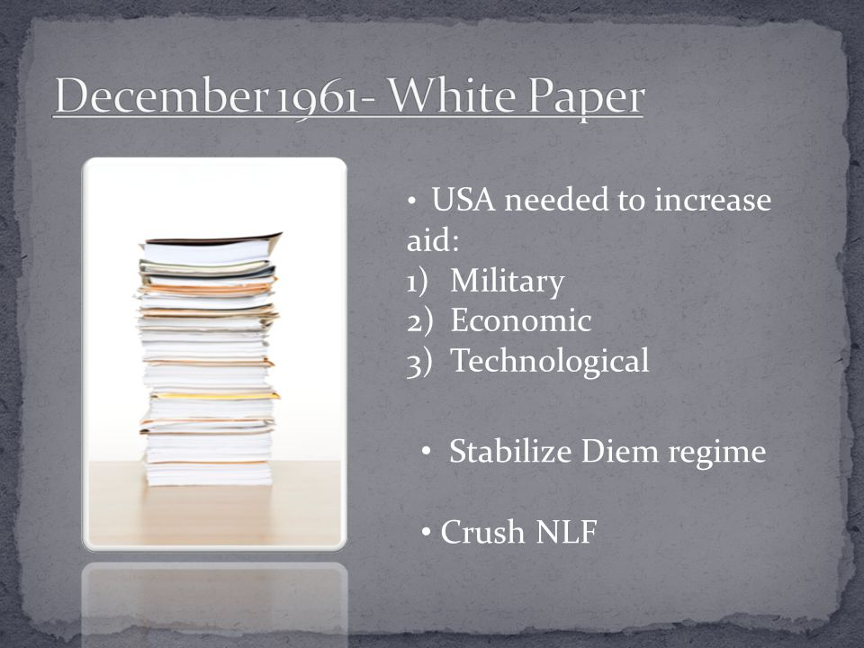 December 1961- White Paper Military Economic Technological