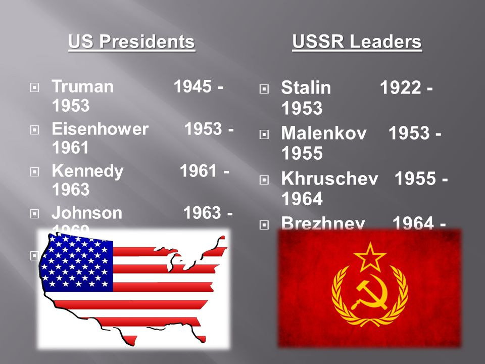 US Presidents USSR Leaders