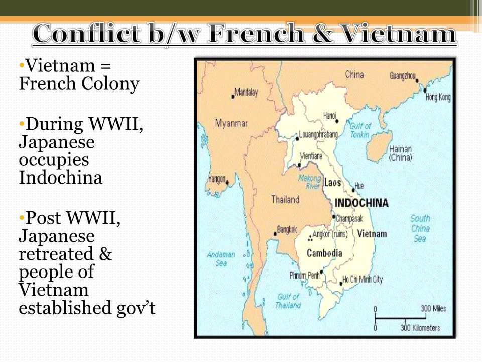Conflict b/w French & Vietnam