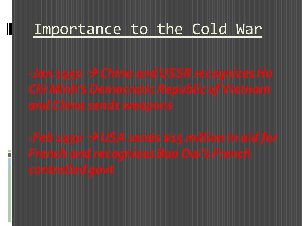 Importance to the Cold War