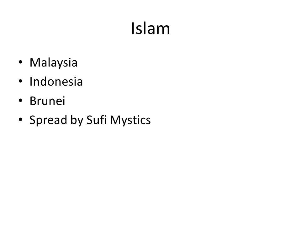 Islam Malaysia Indonesia Brunei Spread by Sufi Mystics
