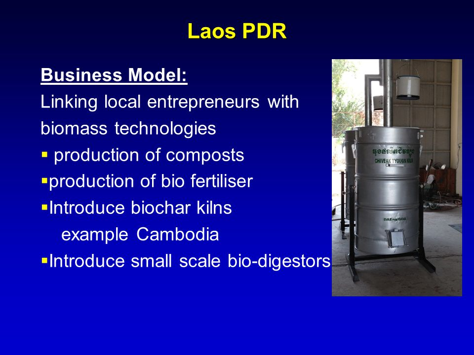 Laos PDR Business Model: Linking local entrepreneurs with