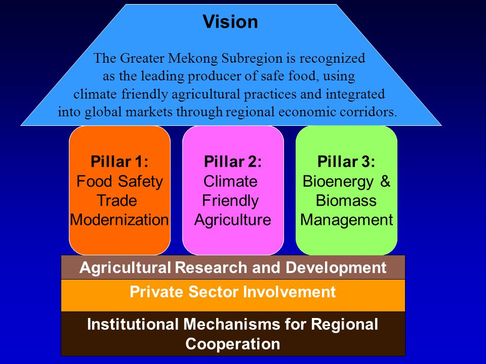 Vision Pillar 1: Food Safety Trade Modernization Pillar 2: Climate