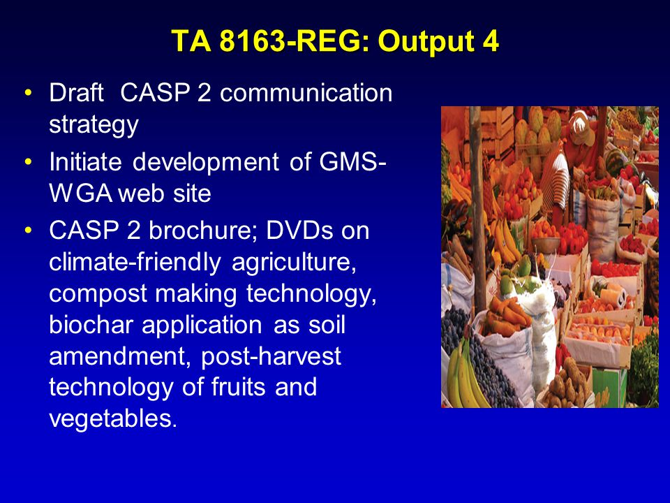 TA 8163-REG: Output 4 Draft CASP 2 communication strategy