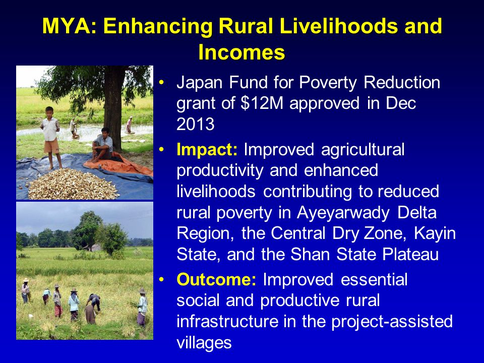 MYA: Enhancing Rural Livelihoods and Incomes