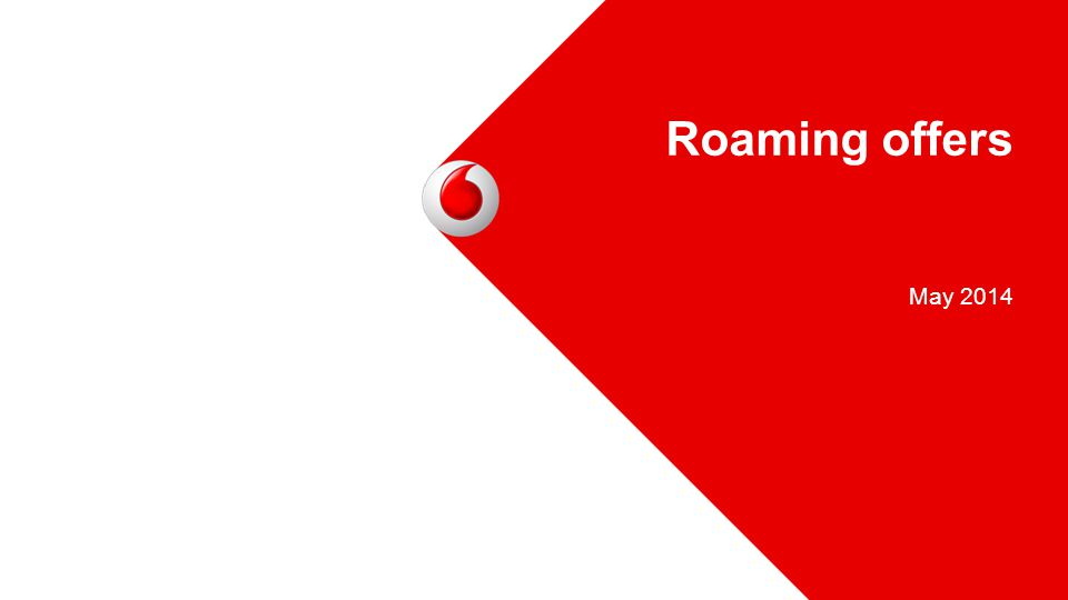 Roaming offers May 2014