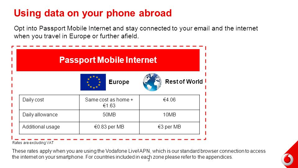 Using data on your phone abroad