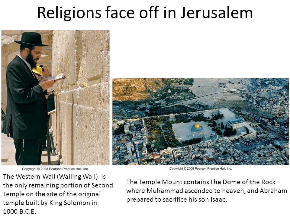 Religions face off in Jerusalem