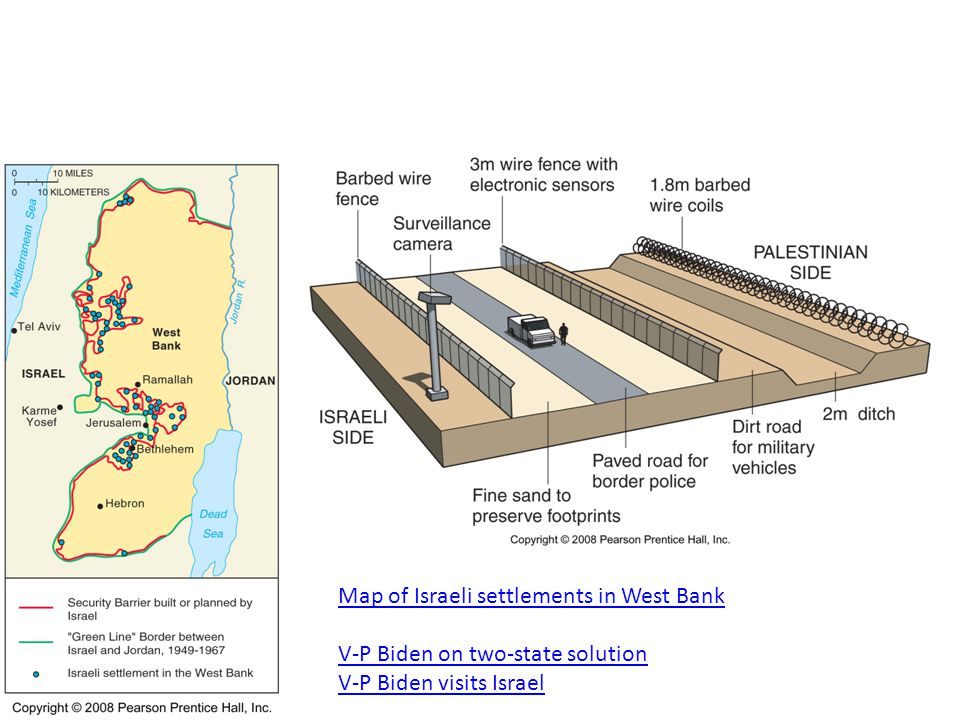 Map of Israeli settlements in West Bank