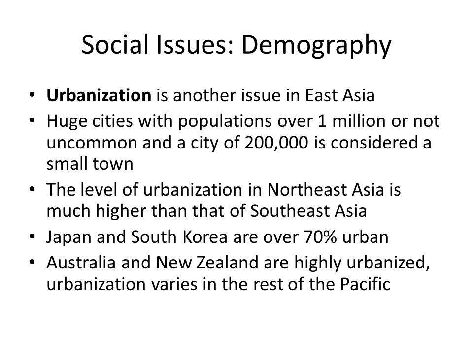 Social Issues: Demography