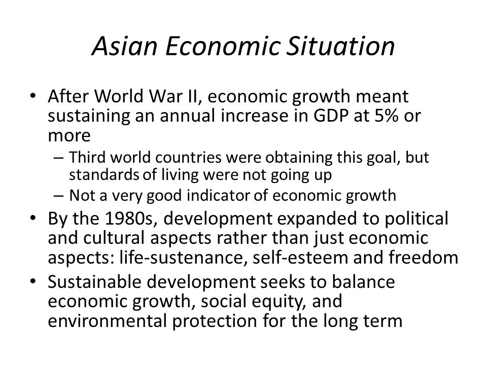 Asian Economic Situation