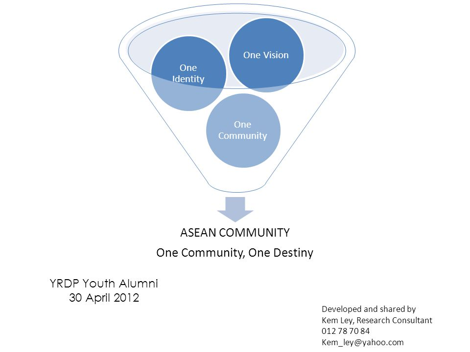One Community, One Destiny