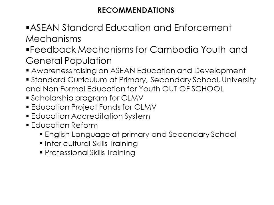 ASEAN Standard Education and Enforcement Mechanisms