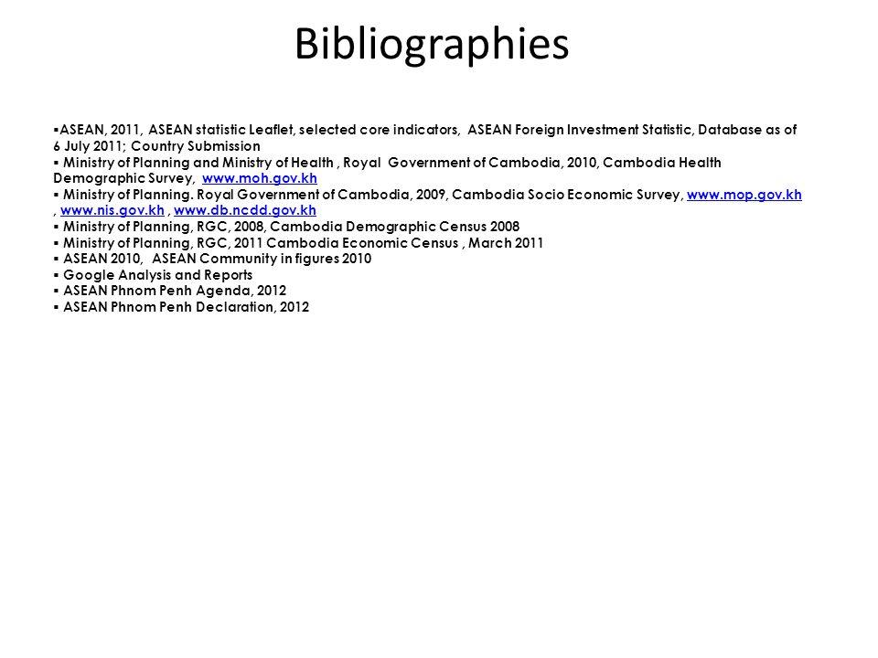 Bibliographies