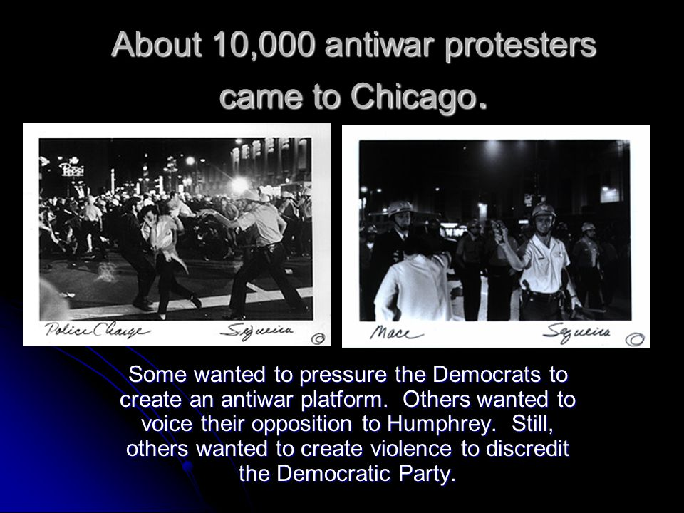 About 10,000 antiwar protesters came to Chicago.