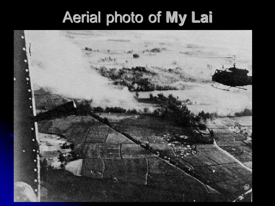 Aerial photo of My Lai