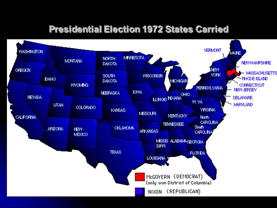 Presidential Election 1972 States Carried