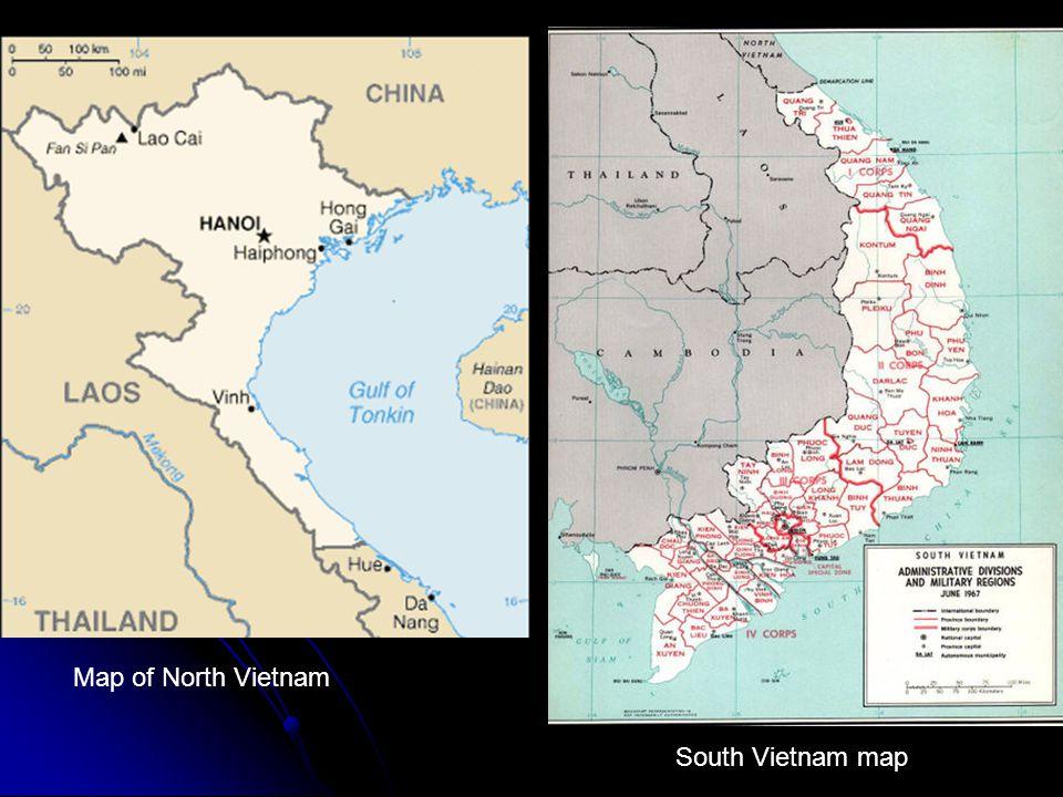 Map of North Vietnam South Vietnam map