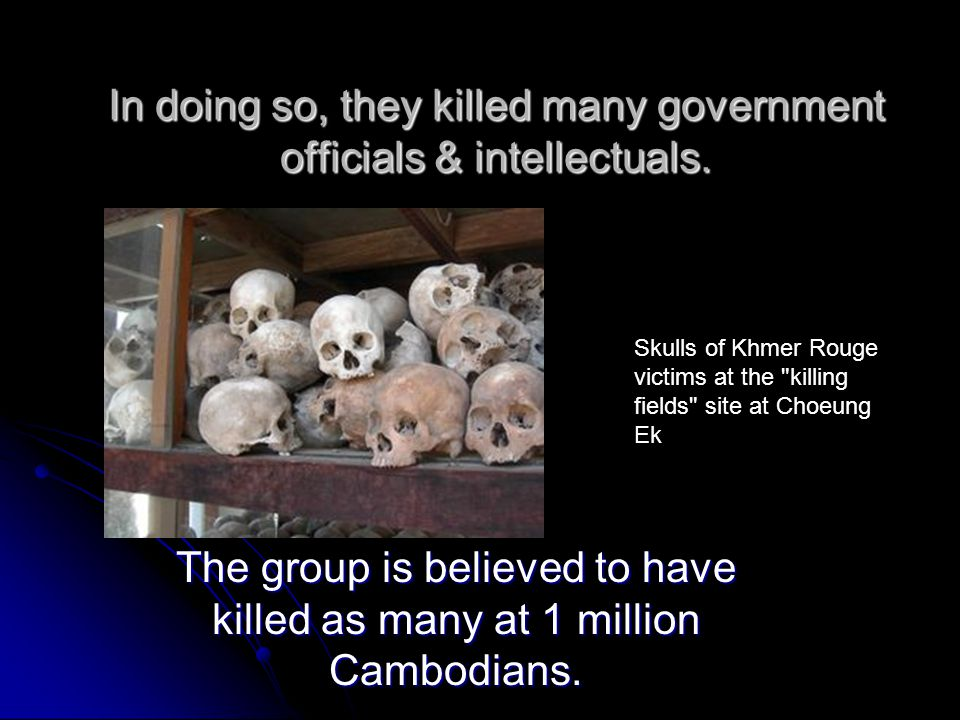 In doing so, they killed many government officials & intellectuals.
