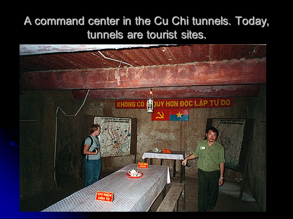 A command center in the Cu Chi tunnels