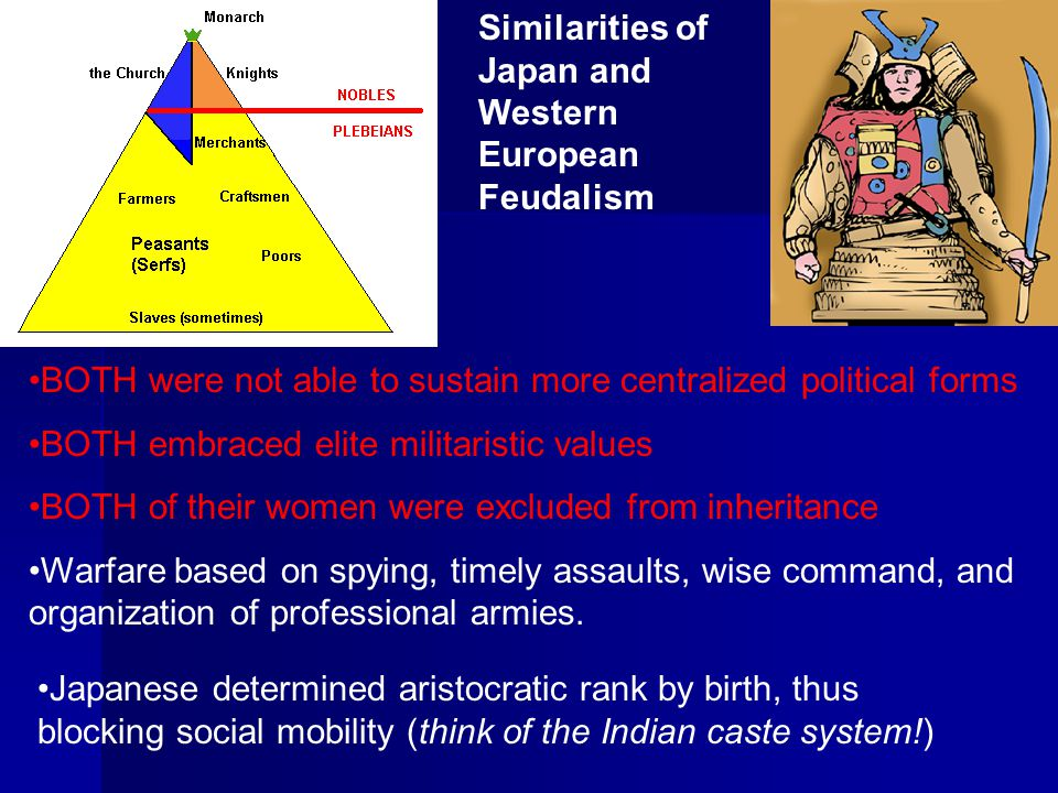 Similarities of Japan and Western European Feudalism