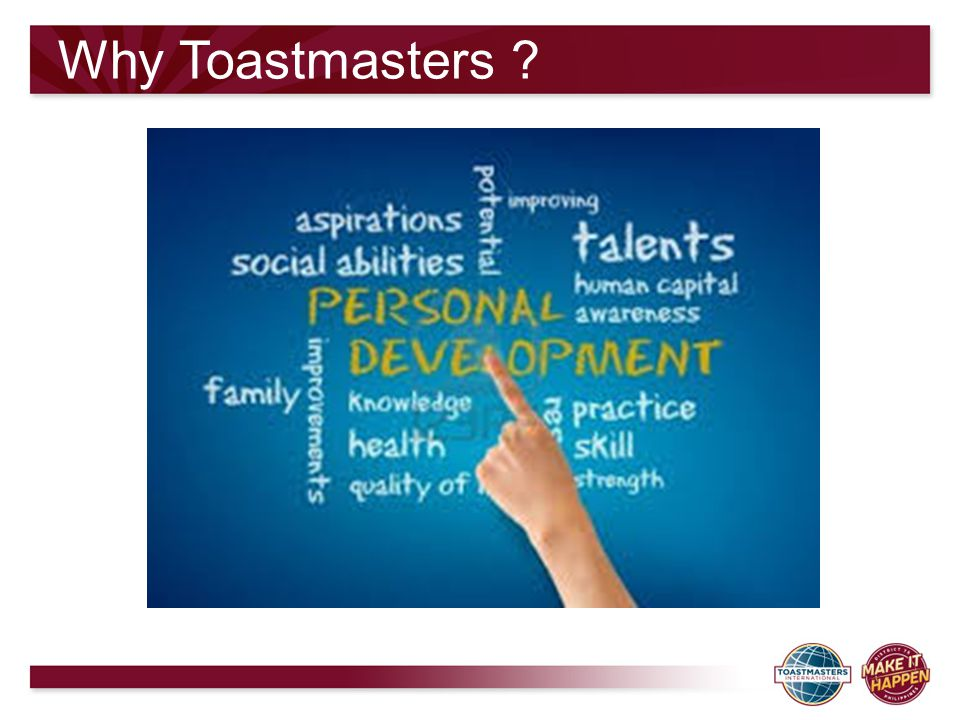 Why Toastmasters