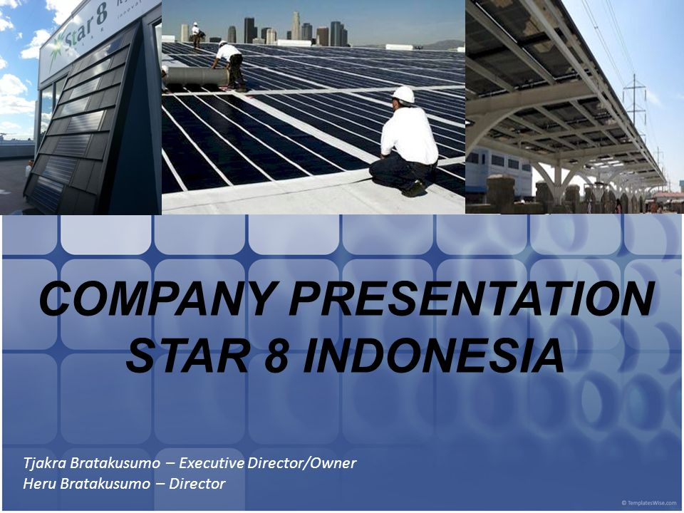 COMPANY PRESENTATION STAR 8 INDONESIA
