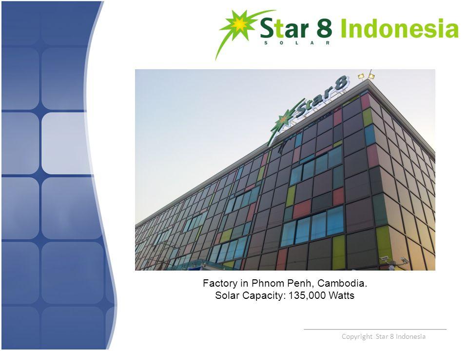Factory in Phnom Penh, Cambodia. Solar Capacity: 135,000 Watts
