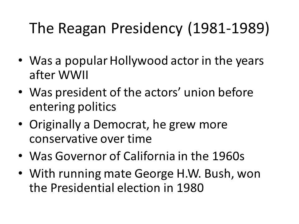 The Reagan Presidency (1981-1989)