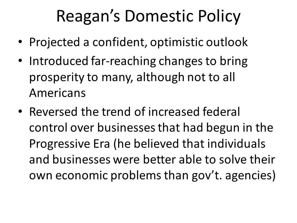 Reagan's Domestic Policy