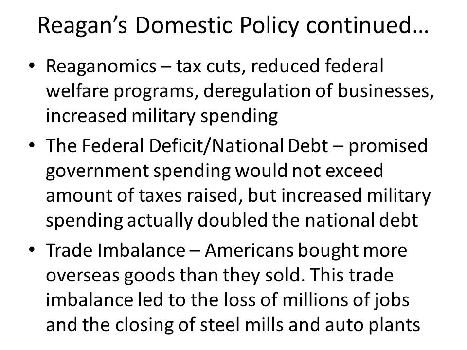 the reagan tax cuts and foreign policy Trump gives tax cuts his nationalist branding find out more about the history of ronald reagan, including videos, interesting the reagan tax cuts and foreign policy articles, pictures.