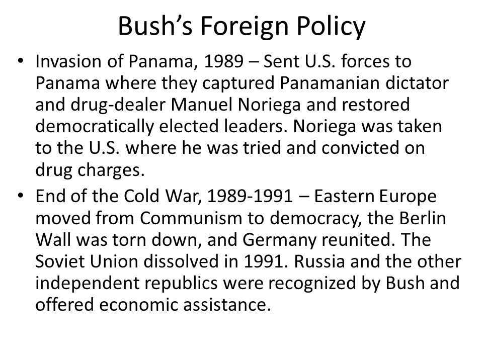 Bush's Foreign Policy