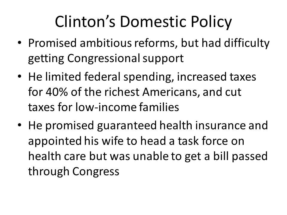 Clinton's Domestic Policy