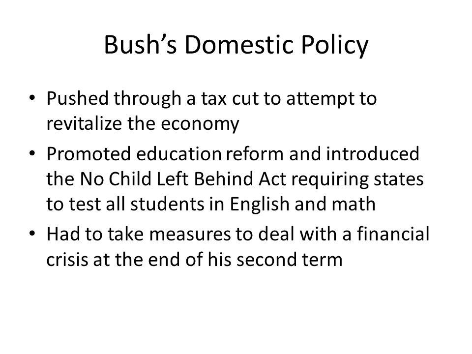 Bush's Domestic Policy