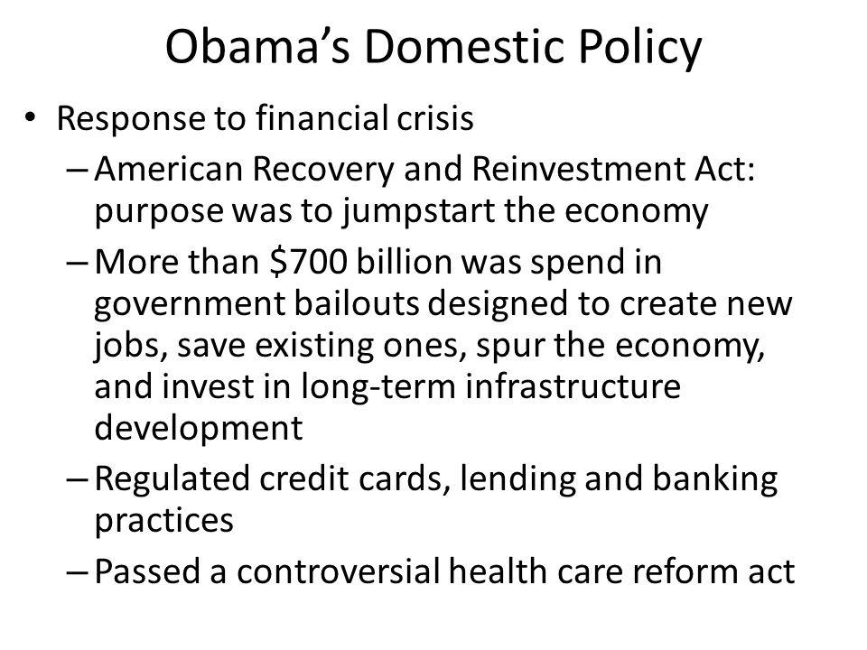 Obama's Domestic Policy