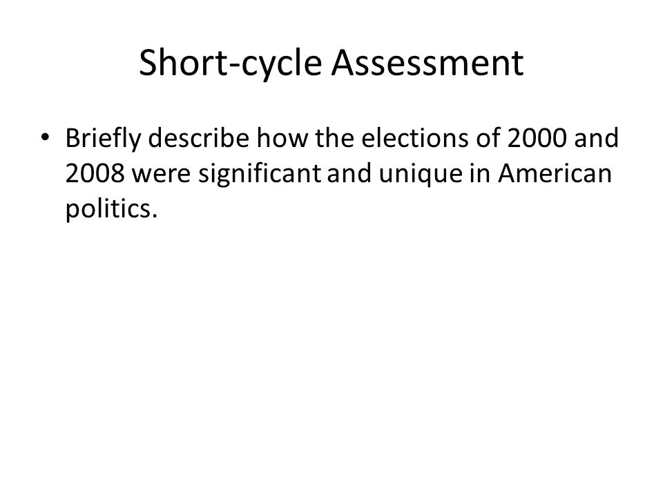 Short-cycle Assessment