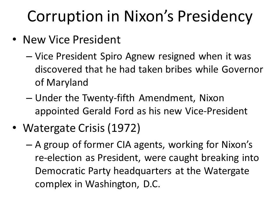 Corruption in Nixon's Presidency
