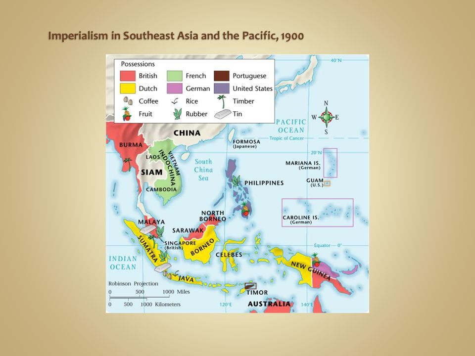 Imperialism in Southeast Asia and the Pacific, 1900