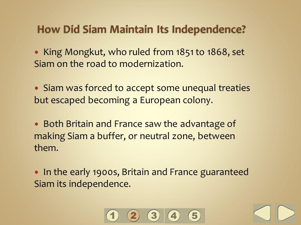 How Did Siam Maintain Its Independence