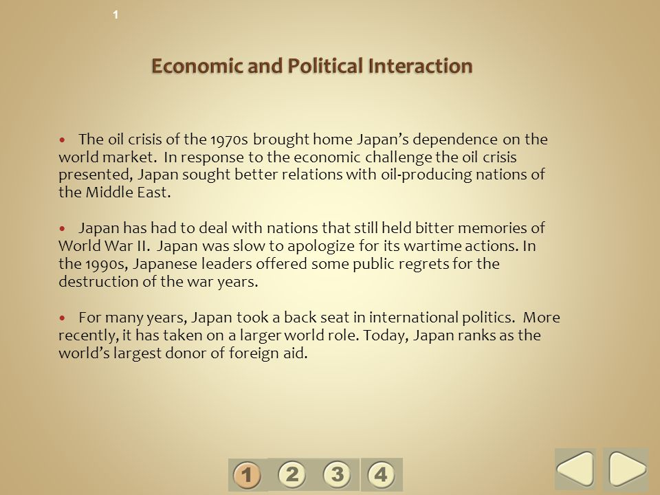 Economic and Political Interaction