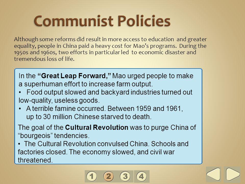 Communist Policies